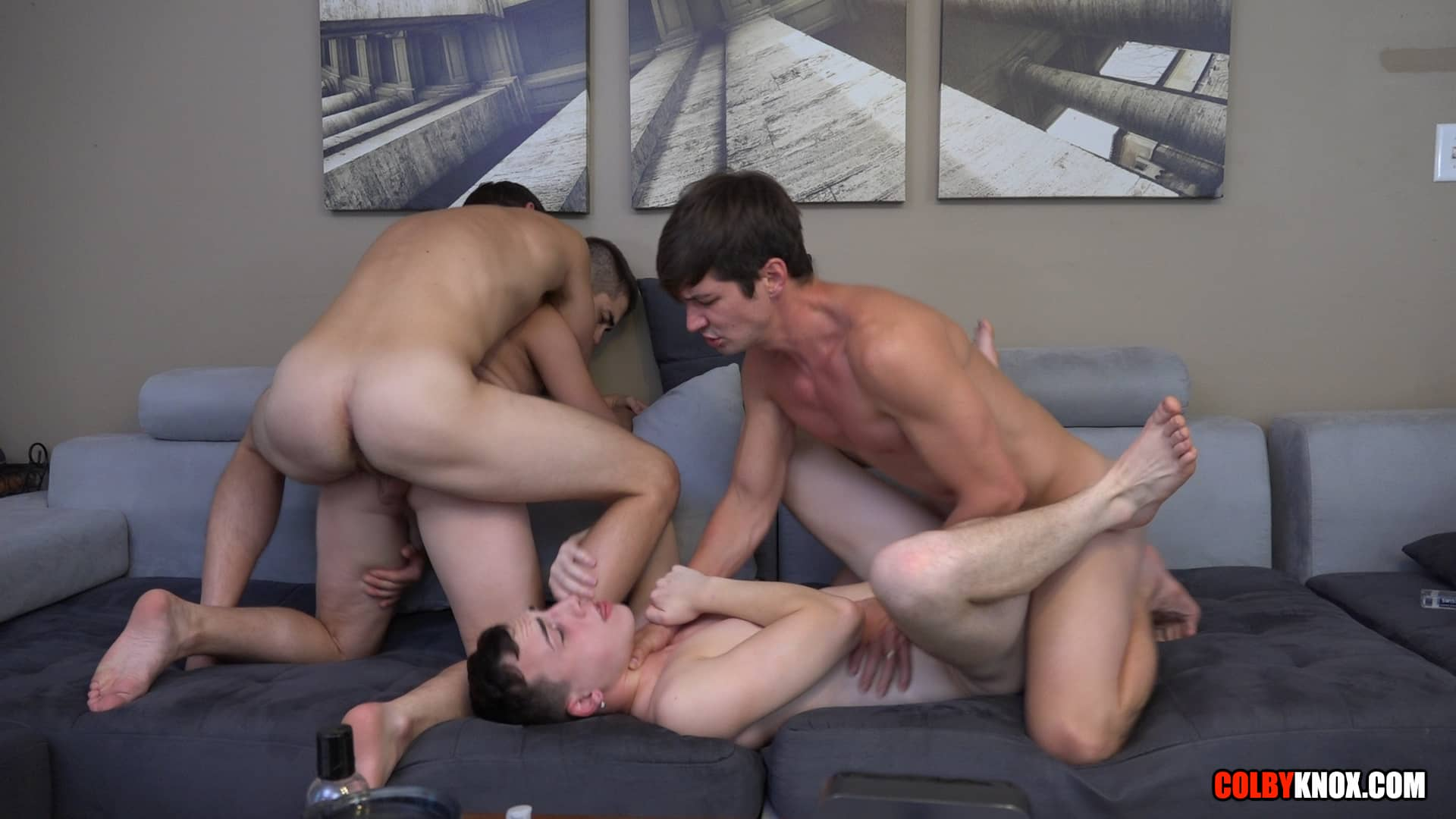 Colby Chambers, Eli Lincoln, Mickey Knox and Troye Jacobs