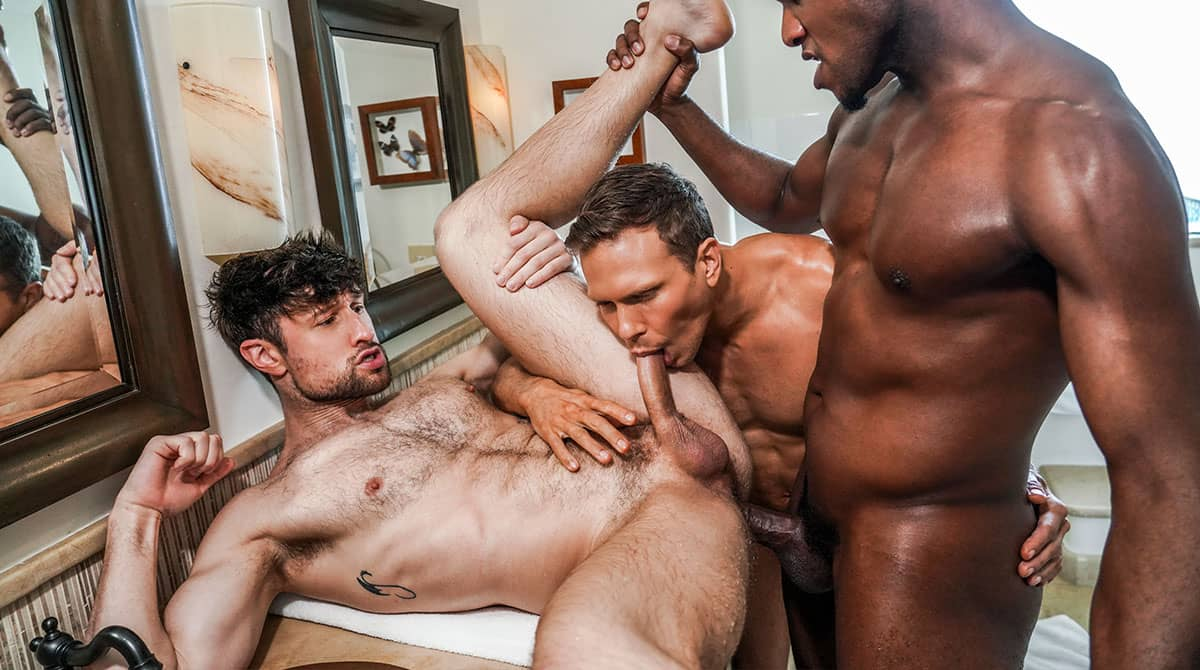 Andre Donovan And Ethan Chase Double Penetrate Drew Dixon