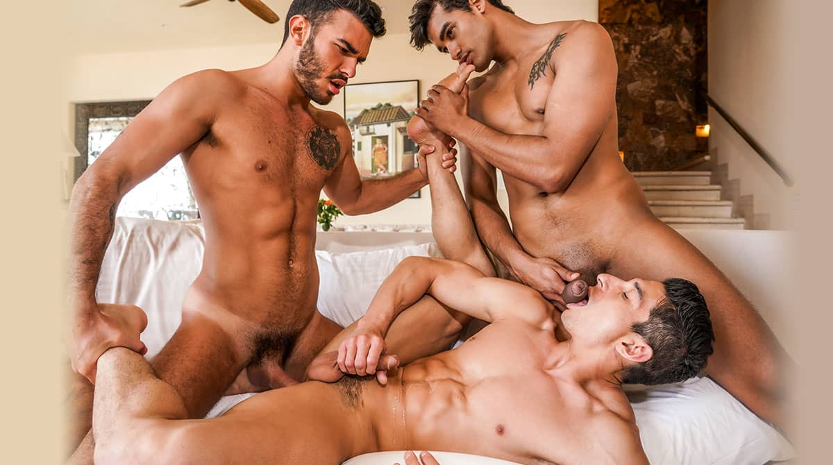 Marco Antonio And Pol Prince Spit-Roast Jim Fit