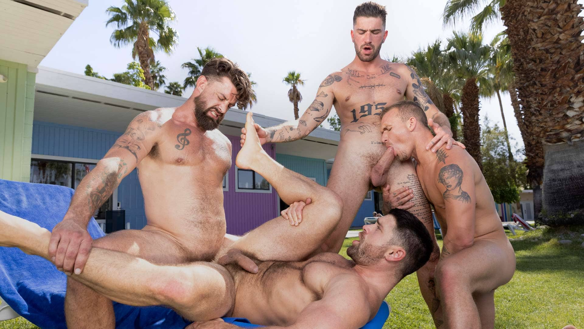 Chris Damned, Isaac X, Beau Butler and Alpha Wolfe